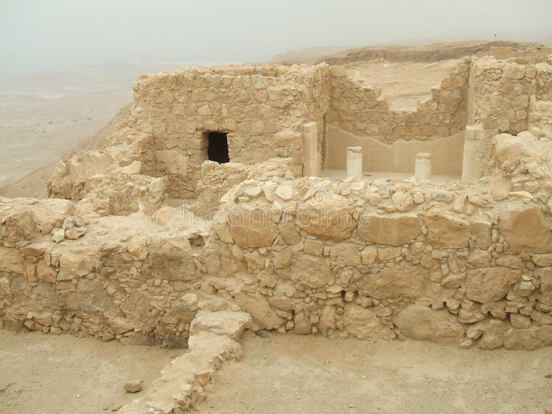Palácio do rei Herod, Masada, deserto de Judaean, Israel fotos de stock