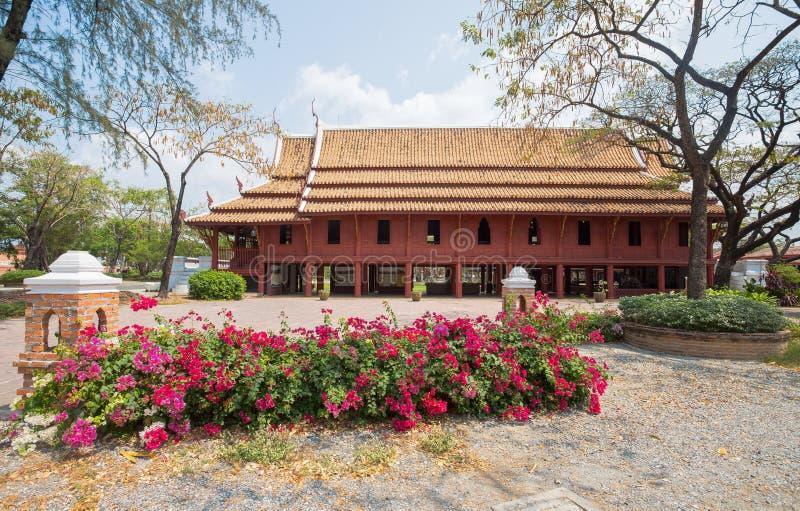 Palácio do ` s de Tiger King, Phetchburi no parque da cidade antiga, Muang Boran, província de Samut Prakan, Tailândia fotografia de stock