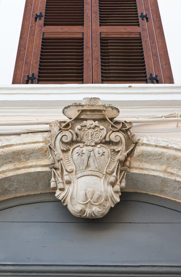 Palácio do ` s do bispo Castellaneta Puglia Italy imagens de stock royalty free