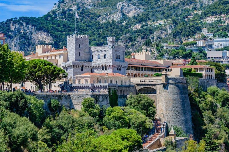 Palácio do ` s do príncipe de Mônaco imagens de stock