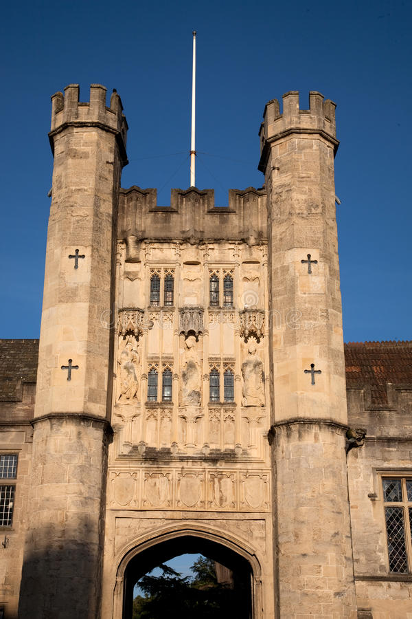 Palácio dos Bishops, poços, Inglaterra, Reino Unido foto de stock
