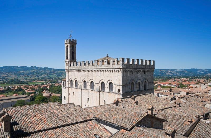 Palácio dos cônsules. Gubbio. Úmbria. foto de stock royalty free