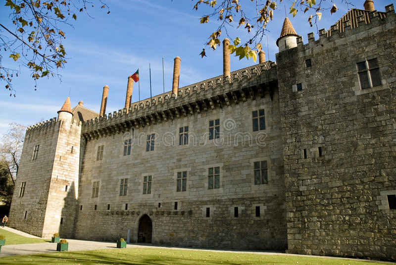 Palácio dos duques de Bragança, Guimaraes foto de stock royalty free