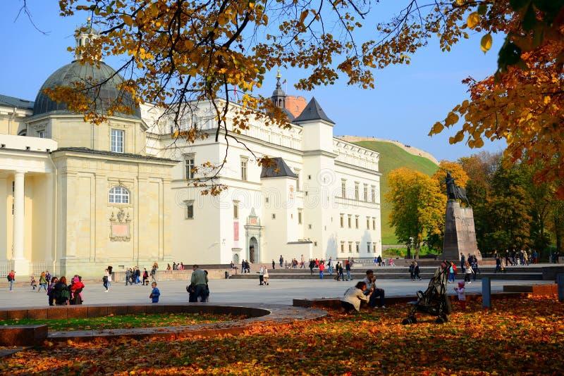 Palácio dos duques grandes de Lituânia na cidade de Vilnius imagens de stock royalty free