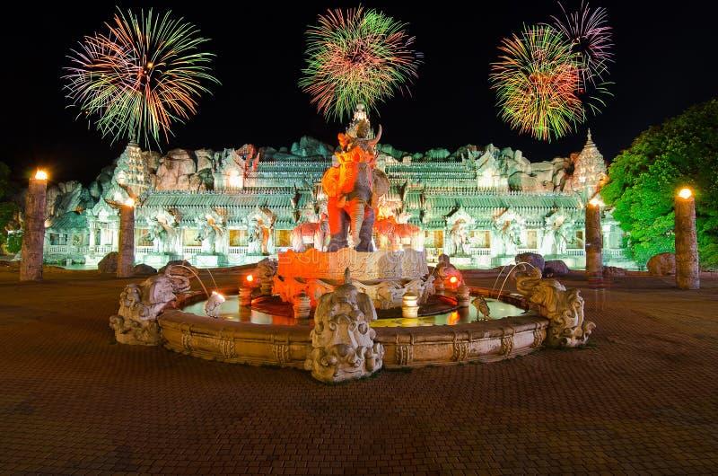 Palácio dos elefantes em Phuket, Tailândia foto de stock