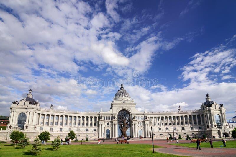 Palácio dos fazendeiros no estilo arquitetónico do império e do classicismo, república de Kazan, Tartaristão fotografia de stock