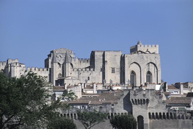 Palácio dos papas, Avignon, França fotografia de stock royalty free