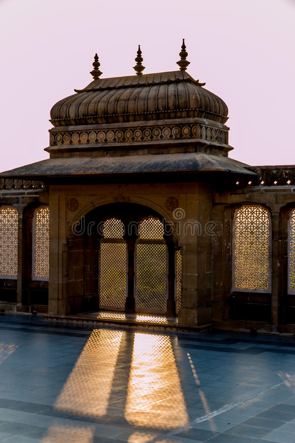 Palácio dos vilas de Vijay no mandvi fotografia de stock