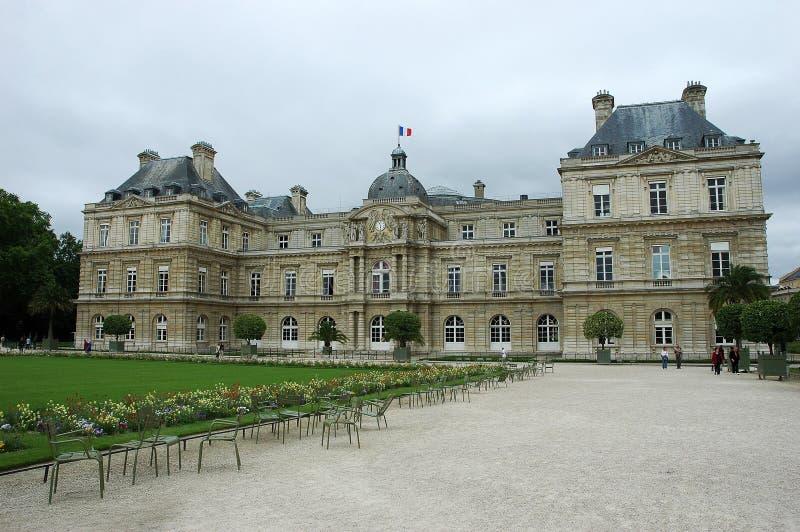 Palácio e jardins de Luxembourg em Paris imagem de stock royalty free