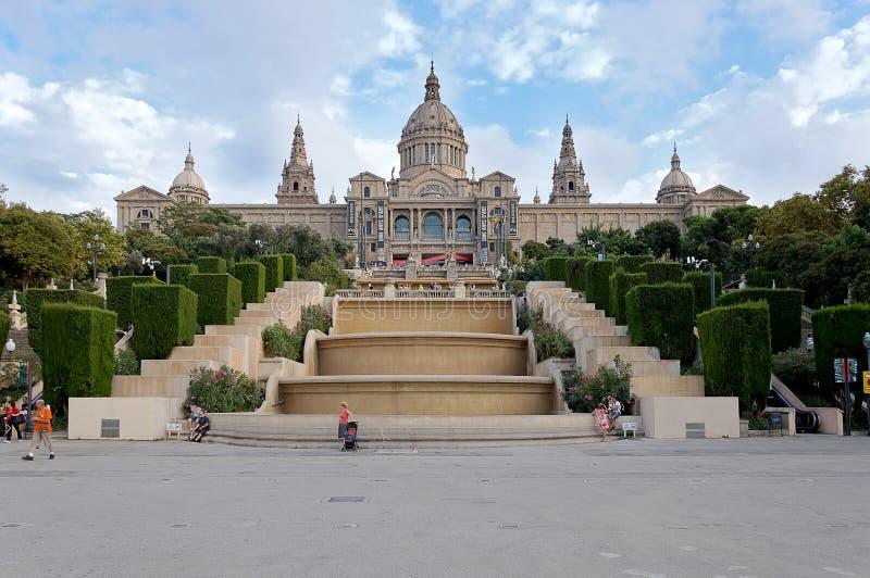 Palácio em Barcelona fotografia de stock royalty free