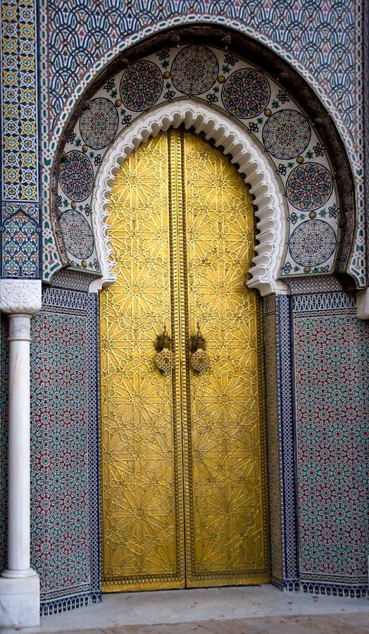 Palácio em Fes, Marrocos fotografia de stock royalty free