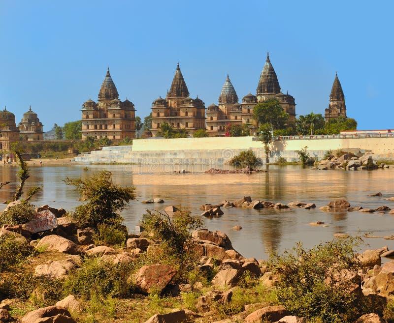 Palácio em Orcha India foto de stock