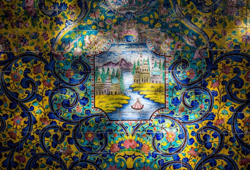 Palácio em Teheran imagem de stock
