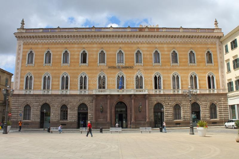 Palácio Giordano Apostoli Sassari Sardinia Italy imagem de stock