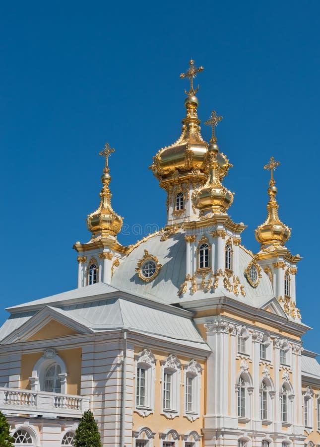 Palácio grande, Petergof, Rússia imagens de stock royalty free