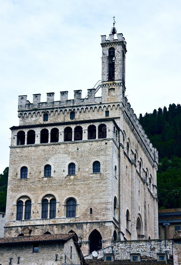 Palácio histórico em Gubbio imagem de stock