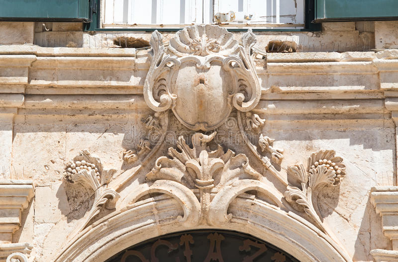 Palácio histórico Martina Franca Puglia Italy imagens de stock royalty free