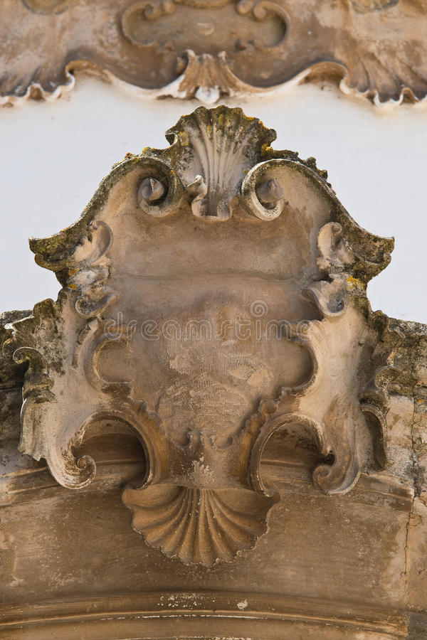 Palácio histórico Martina Franca Puglia Italy foto de stock