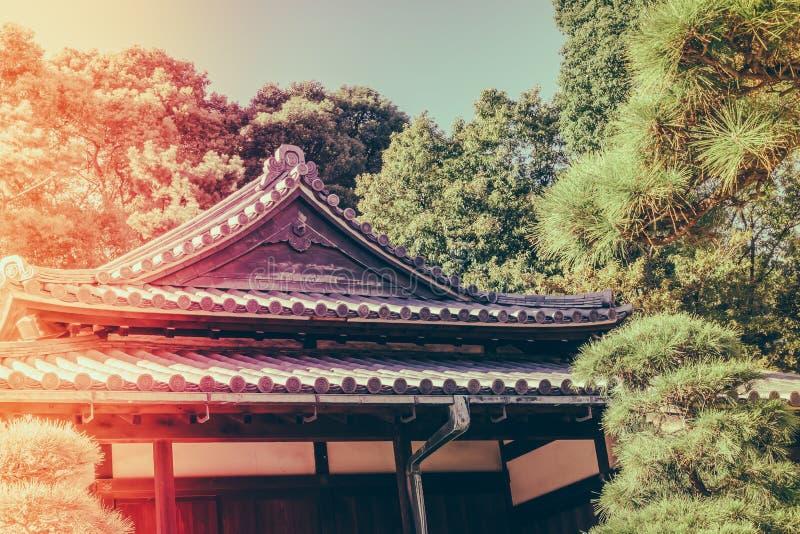 Palácio imperial bonito no Tóquio, japão fotografia de stock