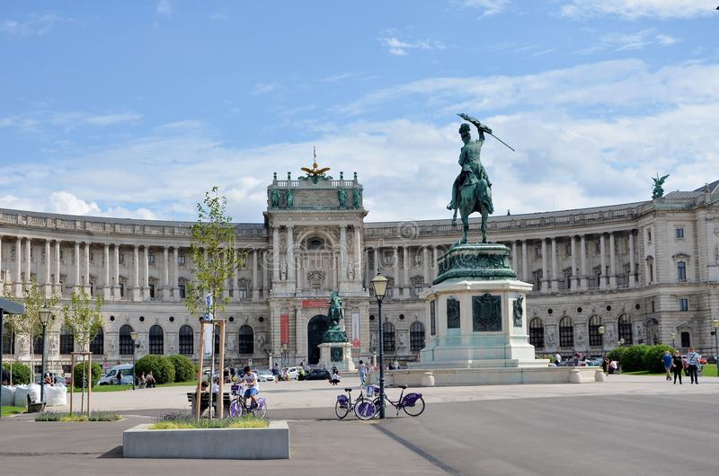 Palácio imperial em Viena imagens de stock