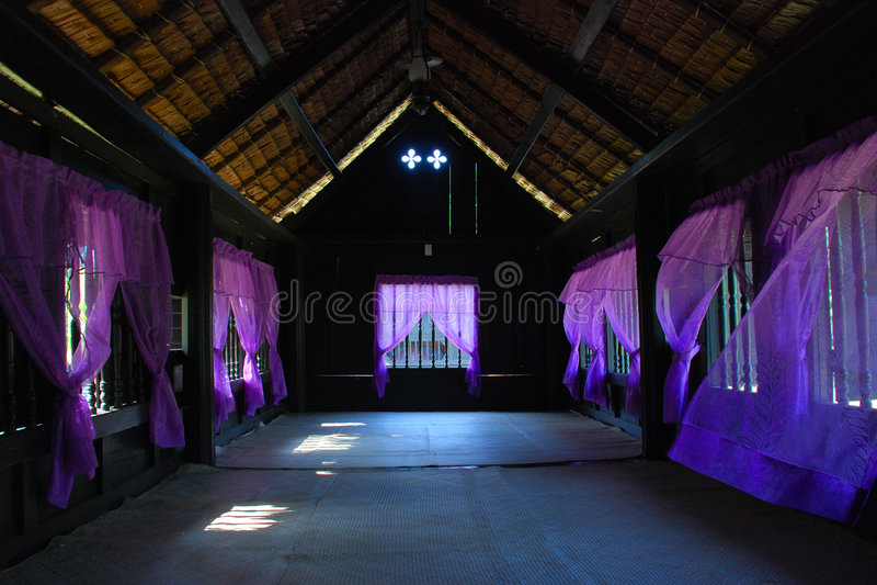 Palácio interno da madeira imagens de stock royalty free