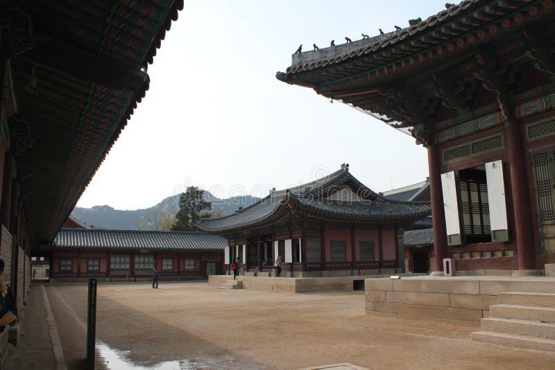 Palácio interno de Gyeongbokgung imagem de stock