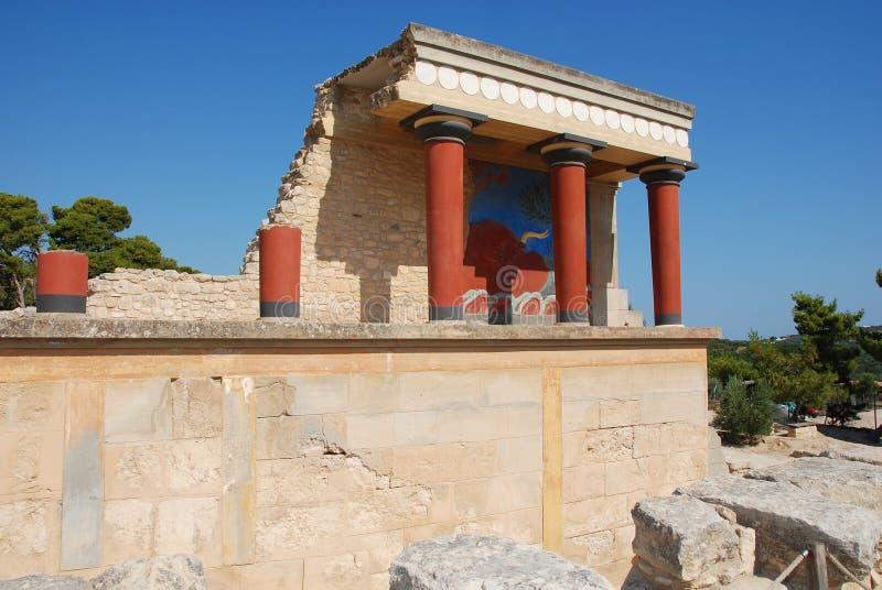 Palácio Knossos imagens de stock