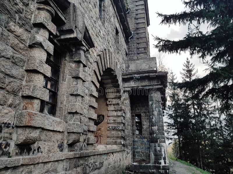 Palácio Ksido na cidade de Khmilnyk, Ucrânia fotos de stock