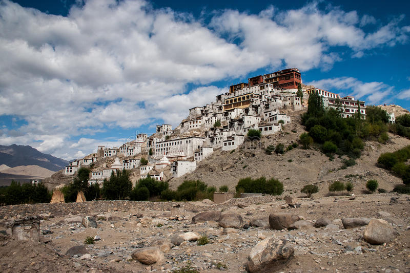 Palácio Ladakh de Thiksey imagens de stock royalty free