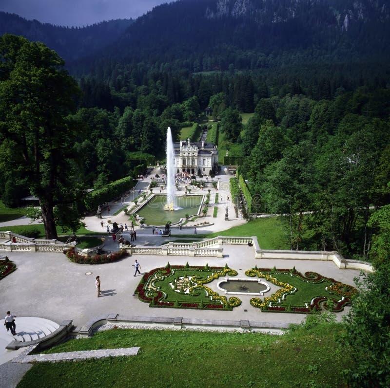 Palácio Linderhof imagens de stock royalty free