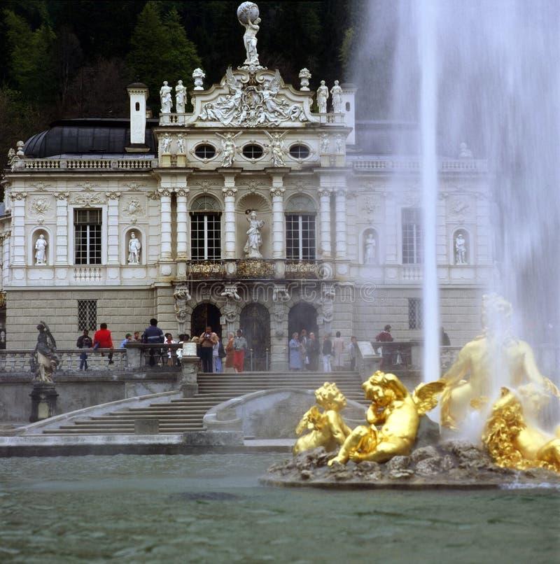 Palácio Linderhof fotografia de stock
