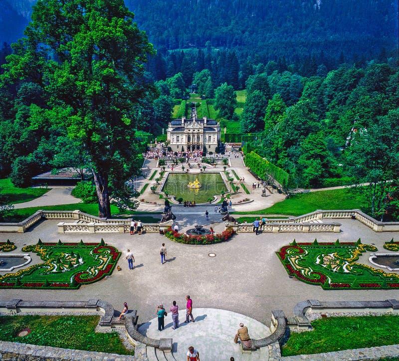 Palácio Linderhof fotografia de stock royalty free
