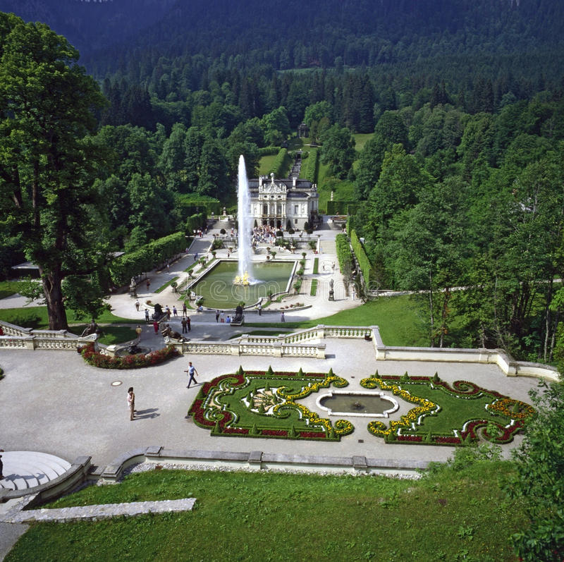 Palácio Linderhof, Alemanha foto de stock