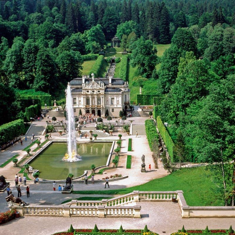 Palácio Linderhof, Alemanha fotografia de stock