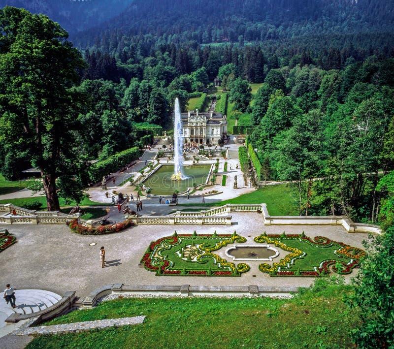 Palácio Linderhof, Alemanha fotos de stock royalty free