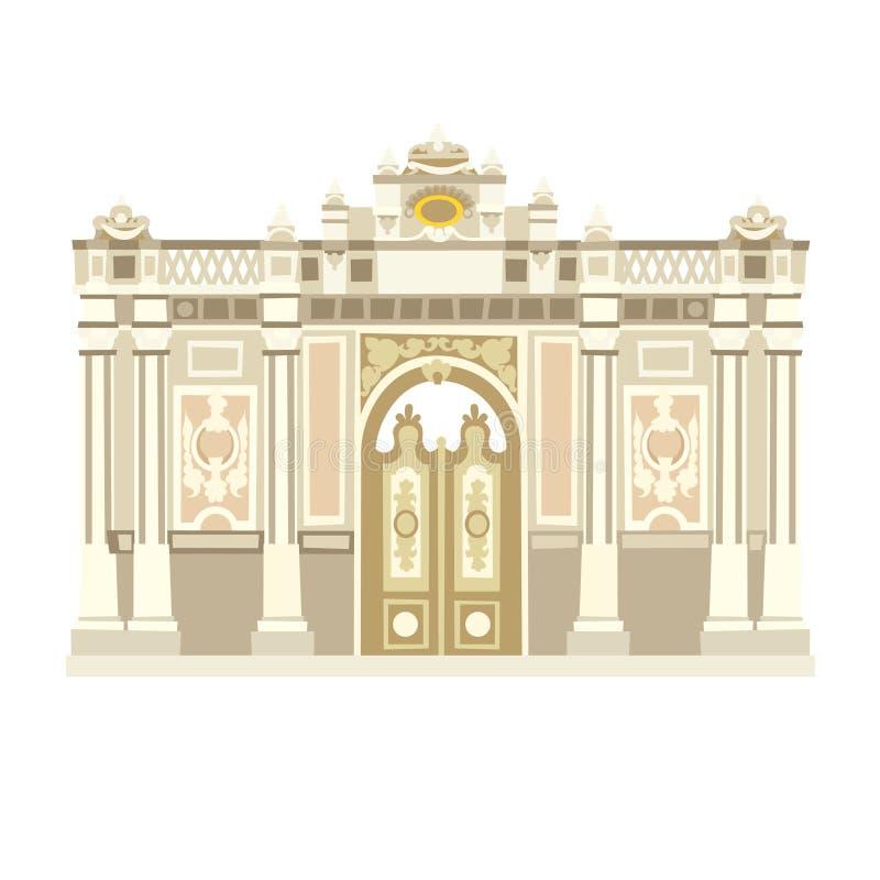 Palácio, marcos de Istambul Ilustração do vetor do estilo dos desenhos animados ilustração royalty free