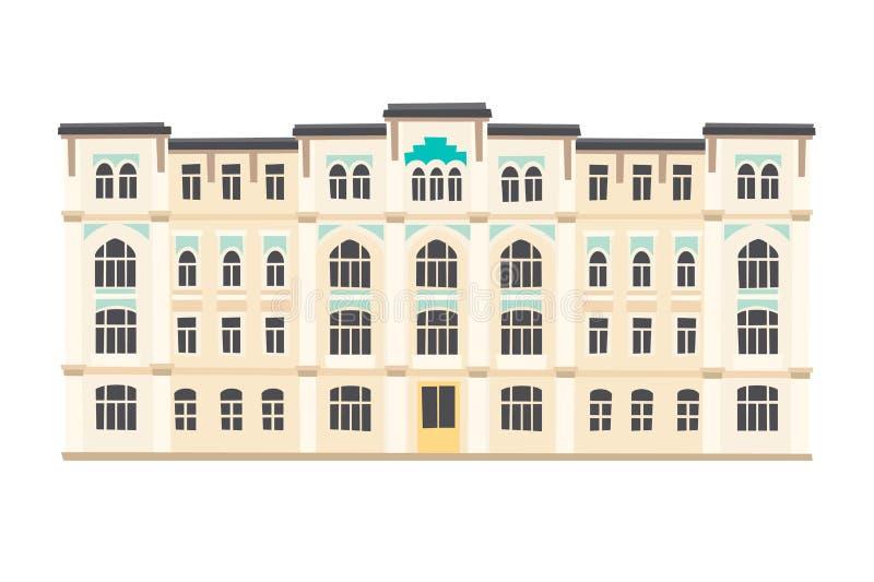 Palácio, marcos de Istambul Vetor do estilo dos desenhos animados ilustração royalty free