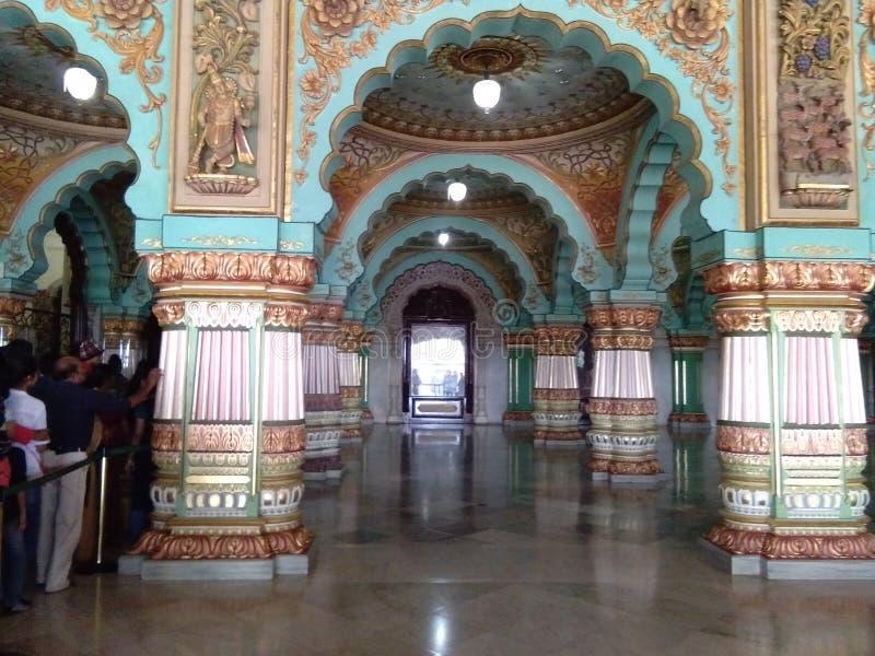 Palácio na Índia de Mysore Karnataka imagens de stock