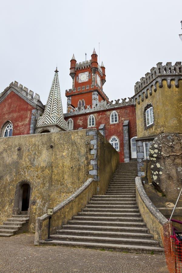 Palácio nacional de Pena em Sintra, Lisboa, Portugal imagem de stock