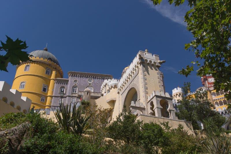 Palácio nacional de Pena (Palacio Nacional a Dinamarca Pena) - palácio do Romanticist em Sintra foto de stock