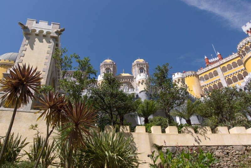 Palácio nacional de Pena (Palacio Nacional a Dinamarca Pena) - palácio do Romanticist em Sintra fotos de stock royalty free