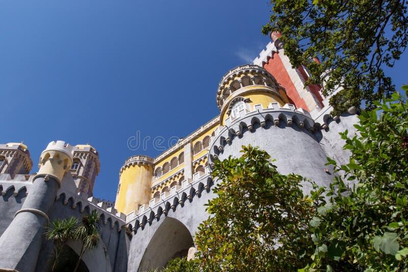Palácio nacional de Pena (Palacio Nacional a Dinamarca Pena) - palácio do Romanticist em Sintra imagens de stock