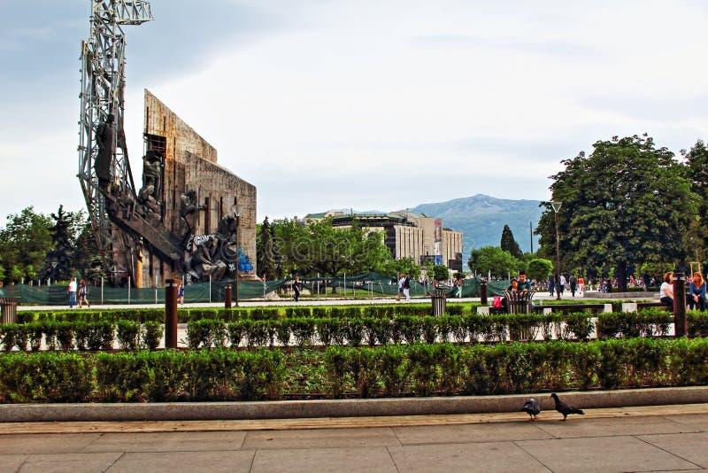 Palácio nacional do parque Sofia Bulgaria da cultura fotografia de stock royalty free