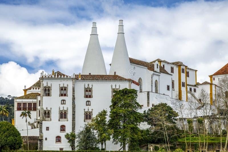 Palácio nacional Portugal de Sintra imagem de stock royalty free