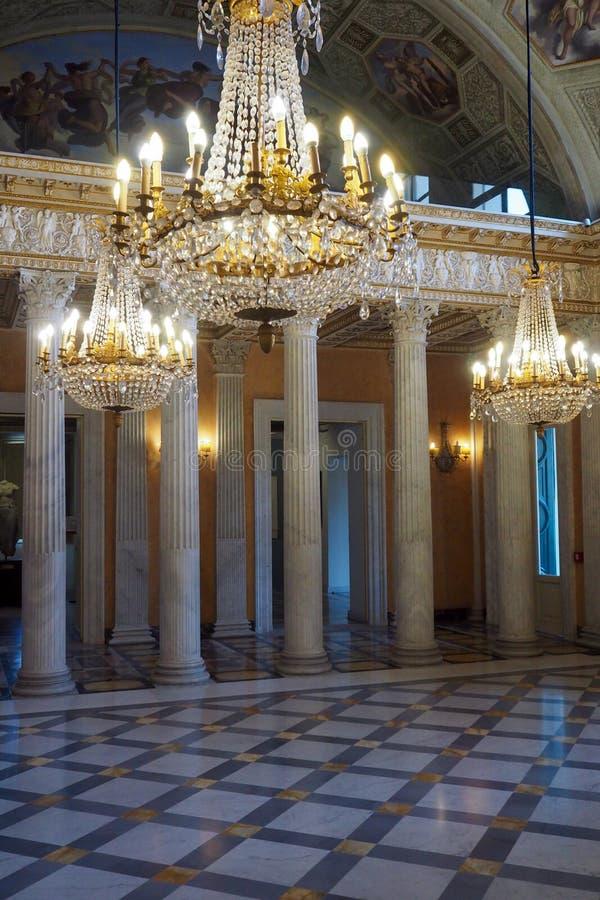 Palácio neoclássico da casa de campo Torlonia em Roma, Itália fotografia de stock
