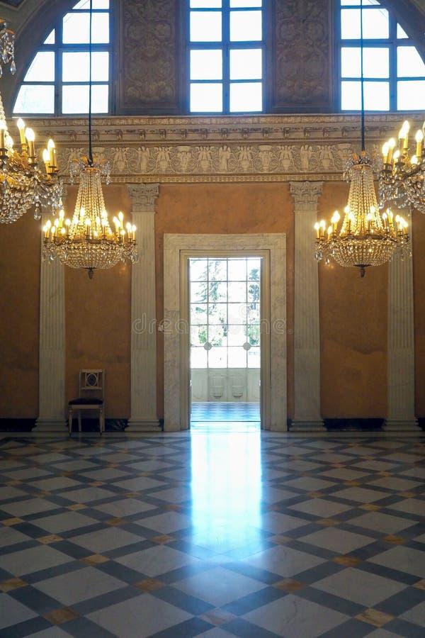 Palácio neoclássico da casa de campo Torlonia em Roma, Itália foto de stock royalty free