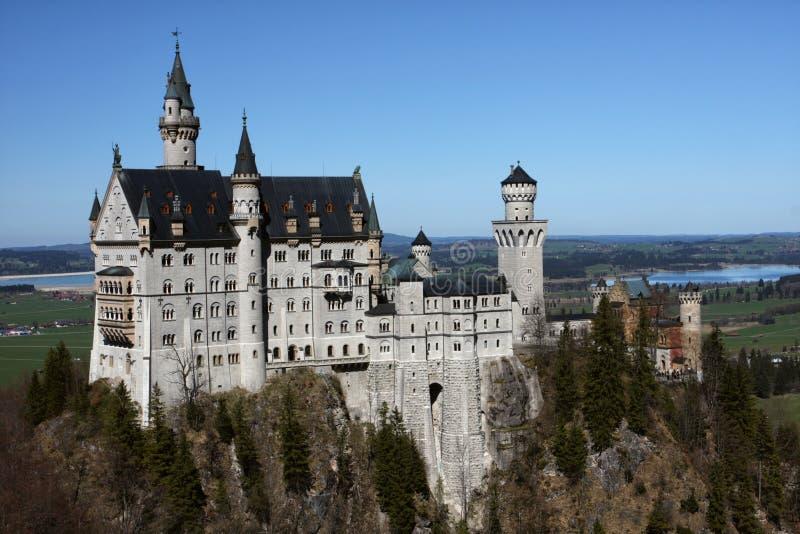 Palácio Neuschwanstein, Baviera, Alemanha fotografia de stock