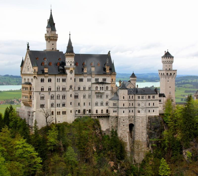Palácio Neuschwanstein, Baviera, Alemanha foto de stock