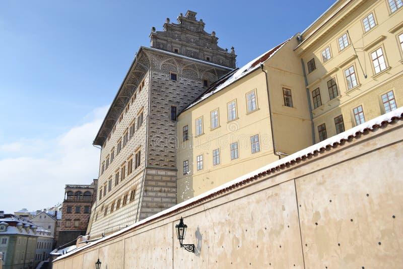 Palácio no castelo de Praga imagens de stock
