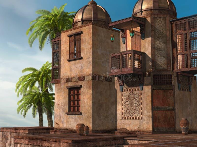 Palácio oriental ilustração royalty free